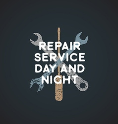 color repair service sign template vector image