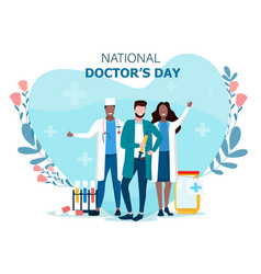 Concept national doctors day vector