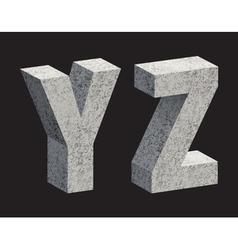 Concrete 3D letters vector