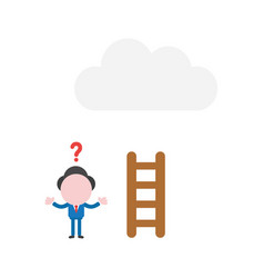confused businessman character with short wooden vector image