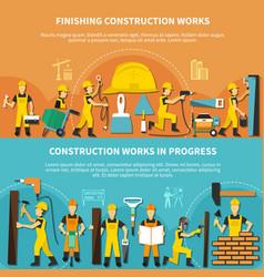 construction worker flyer set vector image