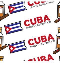 Cuba travel destination cuban rum and cigar vector