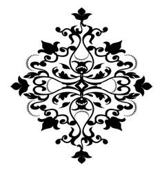 damask pattern isolated on white background vector image