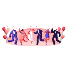 dancing party celebration people character vector image