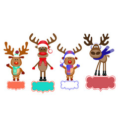 deer with space for text invitations greetings vector image