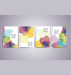 Design templates for a4 covers banners flyers vector