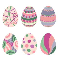 Doodle decorative eggs for Easter vector image