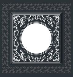 Elegant frame with vintage ornament vector