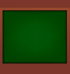 empty green school chalkboard with frame vector image