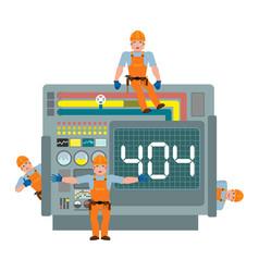 error 404 site is on maintenance service team is vector image