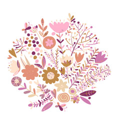 floral background sketch for your design vector image