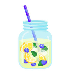 fruit water icon natural freshness and vector image