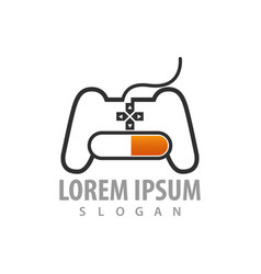 game stick loading logo concept design symbol vector image