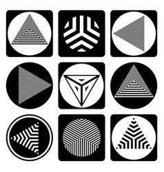 Geometric design elements vector