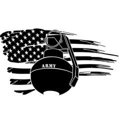granade with american flag vector image