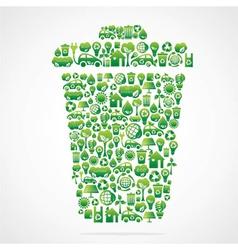 green eco design vector image