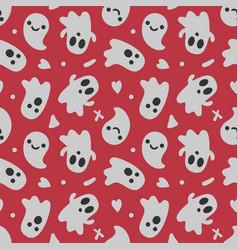 halloween background seamless pattern cute vector image