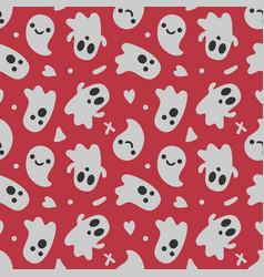 Halloween background seamless pattern cute vector