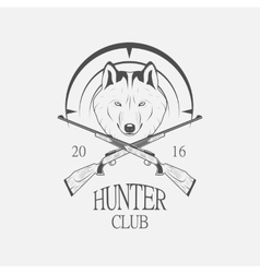 Hunting Club logo vector image