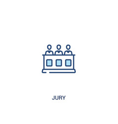 Jury concept 2 colored icon simple line element vector
