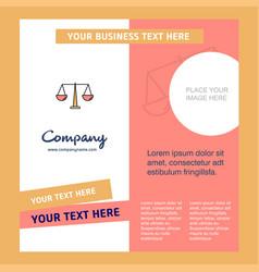 Justice company brochure template busienss vector