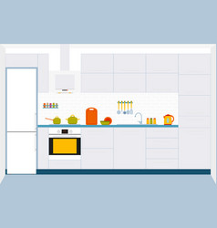 kitchen interior design vector image