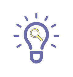 light bulb idea search icon vector image