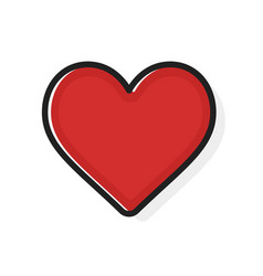 Like and heart icon flat outline style live vector