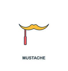 mustache icon creative 2 colors design vector image