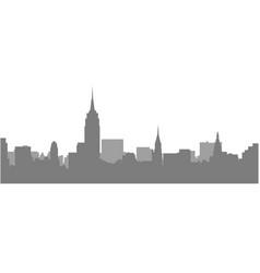 New york city skyline - megalopolis cityscape vector