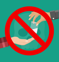 no drugs concept vector image