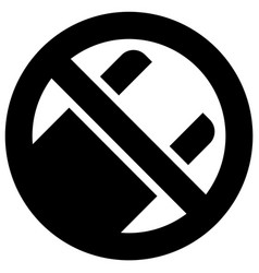 No use plastic bags forbidden sign modern round vector