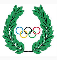 Olympic wreath vector