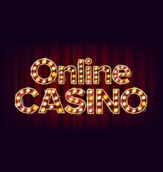online casino banner casino vintage golden vector image