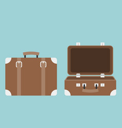Open and close luggage vector