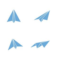 paper plane icon design vector image