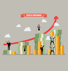 power of compounding vector image