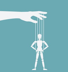 Puppet standing with hands on hips vector