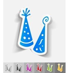 realistic design element Party Hat vector image