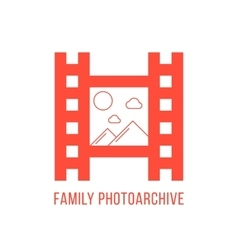 Red family photoarchiv icon vector