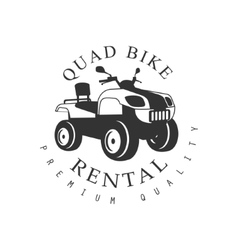 Renting Premium Quality Quad Bike Label Design vector