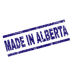 Scratched textured made in alberta stamp seal vector