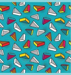 Seamless pattern colorful pattern with 3d vector