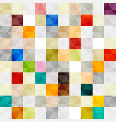 seamless pattern rectangles and triangles vector image