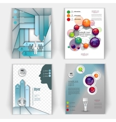 set of business brochures vector image