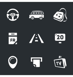 Set of road trip vector