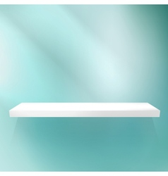 Shelf on blue for exhibition vector image