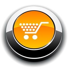 Shopping 3d round button vector