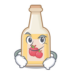 Smirking apple cider isolated with mascot vector