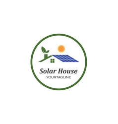 solar panel logo icon vector image